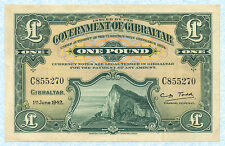 GIBRALTAR 1 Pound 1942 P15b VF++