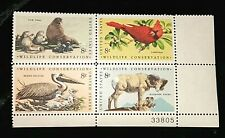 1972 Plate Block 1467a! Mnh Us Stamps! Wildlife Conservation Walrus Pelican!