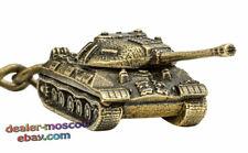 Bronze Solid Brass Keychain Soviet Heavy Tank IS-3 Iosif Stalin Keyring IronWork