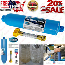 NEW RV WATER FILTER Parts And Accessories Inline System With Hose Camper Trailer