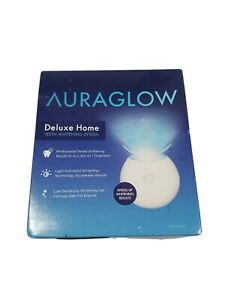 AuraGlow Deluxe Home Teeth Whitening System 20 Treatments Exp: 05/22 FREE SHIP