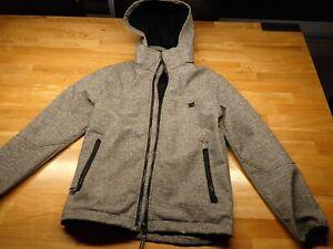 H&M Kinder Jacke, Wind und Regenjacke, Softshell Gr.146, grau Wasserdicht