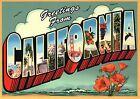 Greetings from California, Golden Gate Bridge etc - Modern Large Letter Postcard