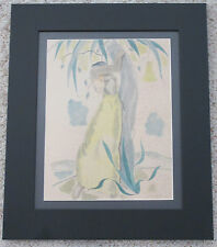 JON PEACOCK CALIFORNIA SIGNED ANTIQUE NUDE FIGURE ISLANDER LANDSCAPE PAINTING