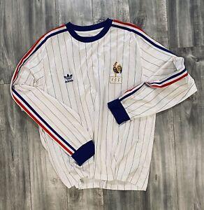 Ultra Rare ADIDAS Originals 1982 France Retro Jersey FFF Football
