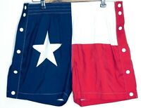 Chubbies Texas American Flag Red White Blue Swim Short Stars Multiple Mens Sz