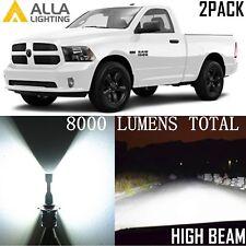 Alla Lighting High/Hi Beam Headlight Headlamp 9005 LED Bulb Lamp for Ram White