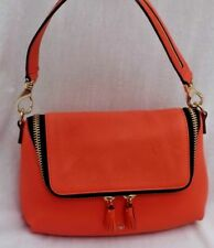 ANYA HINDMARCH  MAXI ZIP HAND/SHOULDER/ACROSS BODY BAG IN CORAL LEATHER - USED