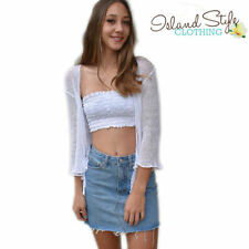 Unbranded Casual Solid Strapless Sleeve Tops & Blouses for Women
