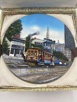 "San Francisco 3D Souvenir Plate 10.25"" Cable Car Chinatown Wall Hanging"