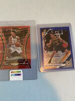 Malcolm Brogdon 2019-20 Panini Select T-Mall Red Wave SP Premier 115 2 Card Lot!