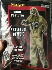 """Spirit Halloween Mens """"Skeleton Zombie"""" One Size Fits Most Complete Costume"""