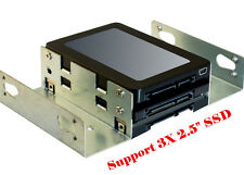 """2.5"""" SSD Hard Drive to 5.25"""" Drive Bay Adapter Bracket HDD Converter Caddy Tray"""