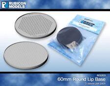 Rubicon Plástico Redondo Bases 60 mm 5 bases-wargaming-bases-RU057