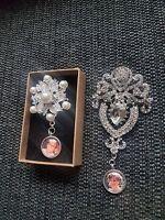 Personalised Photo Wedding Bridal Bouquet Broach/brooch