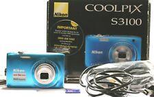 Nikon COOLPIX S3100 Digital Cameras Blue