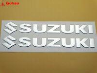 Tank Fairing Badge Emblem Decal Sticker For Suzuki Racing Motors 145mm 3D Silver