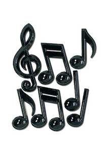 Rock n Roll Assorted Music Note Decorations
