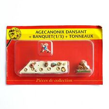 MINI FIGURINE PLOMB ASTERIX PLASTOY ATLAS N°10 AGECANONIX BANQUET TONNEAUX