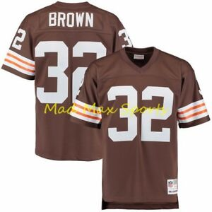 JIM BROWN Cleveland BROWNS Home MITCHELL and NESS Throwback LEGACY Jersey S-XXL