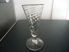 More details for antique 18th century wrythen glass wine ale