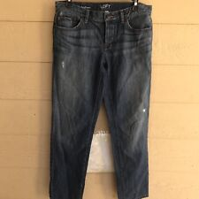 Ann Taylor LOFT Boyfriend Distressed Jeans Women's Size 27 / 4  32x29  A081