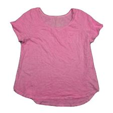 Lane Bryant Bright Pink Short Sleeve 100% Cotton Slub Tee 18/20