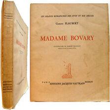 Madame Bovary 1946 Flaubert Illustré Georges Trouillot introduction Alexis Pitou