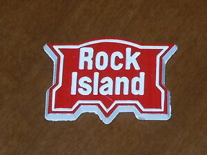 ROCK ISLAND RAILROAD Vintage Old RUBBER FRIGE MAGNET Standings Board 1970's ram