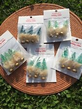 Makers Holiday Mini Sisal Christmas Trees for Indoor Decorative