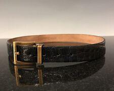 $1375 Dolce & Gabbana Men's Runway Crocodile Belt Sz 34/85cm