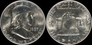 1957-D Franklin Half Dollar BU FBL Gem Obsolete Old Silver US Type Coin 50 Cent