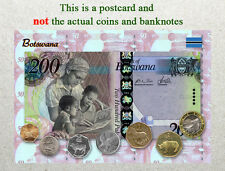 Postcard: Botswana Circulating Coins and Currency (Banknote) 2013
