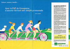 PUBLICITE ADVERTISING 104  1990  GROUPAMA  assurances PAP  ( 2p)