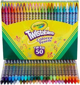 Crayola Twistables Colored Pencil Set, 50 Count