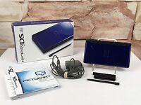 Nintendo DS Lite Cobalt Blue Handheld System COMPLETE - A09