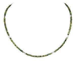 Turmalin grün Kette Halskette Edelstein-Collier V619