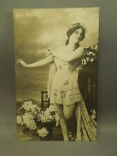 Antique Early 1900's Pin Up Girl Woman Lulu Russel Gg Co Postcard