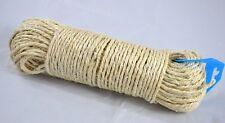 50 Meter Wäscheleine Sisal Seil Strick Leine geflochten Natur Naturfaser Katze