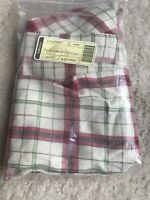 LONGABERGER 2013 Customer Christmas plaid Tidings Liner (fits Cake Basket) New