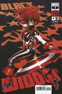 Black Widow # 9 Brooks Captain America Variant NM Marvel Ships July 28th