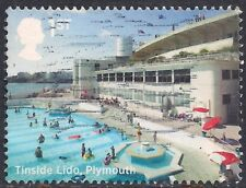 GB 2014 QE2 1st Class Seaside Architecture used stamp  SG 3636 ( D1072 )