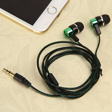 Rope 3.5mm In-Ear Earphone Stereo Headphones Super Bass Headset Metal Earbud Lot