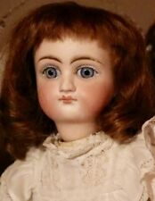 """14"""" Antique Sonneberg Bisque Closed Mouth Belton Doll Marked 106"""