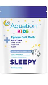 NEW! Aquation Kids Epsom Salt Bath Melatonin / Lavender Marshmallow Sleepy 1-3LB