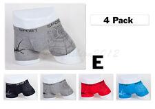 4pc XS 26-28inch New Cotton Mens Boxer Briefs Trunk Short Underwear Spider Nets
