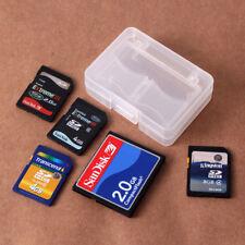 Plastic CF/SD Card Compact Flash Memory Card Holder Box Storage Transparent Case