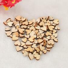 200* Mini Small Wooden Mix Rustic Love Heart Wedding Table Scatter Decoration UK
