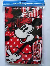 Japan Tokyo Disney Micky Mouse Red Black Bath Towel