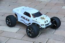 Custom Body Police Sheriff White for Traxxas Rustler 1/10 Truck Car Shell 1:10